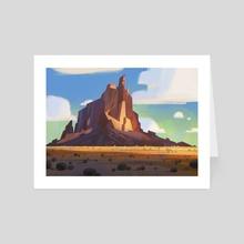 Shiprock - Art Card by Shannon Hallstein