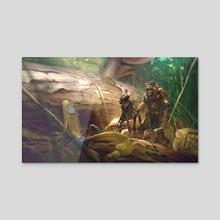 The Hunt - Acrylic by Hethe Srodawa