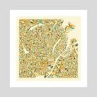 Copenhagen Map - Art Print by Jazzberry Blue