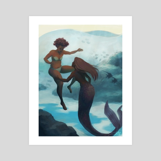 I fell in love with a mermaid by Kirsten Halvorsen