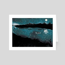 It's Cold in the River at Night by Alex Potts - Art Card by Avery Hill Publishing