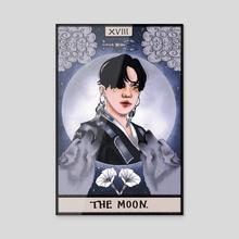 Kim Sehyoon, The Moon - Acrylic by Anji W