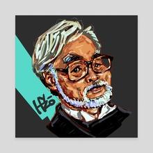 Hayao Miyazaki 2 - Canvas by HYZO
