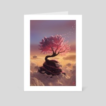 Pink Tree Hill - Art Card by Maxime Chiasson Art