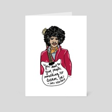 Hendrix! - Art Card by Allie Oliver-Burns