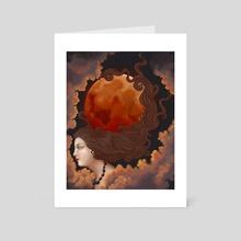 Lady of the Lunar Eclipse II - Art Card by Lavennia Mannings