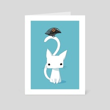 Cat and Raven - Art Card by Indré Bankauskaité
