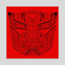 Autobot Tech Black and Red - Canvas by Genevieve Blais