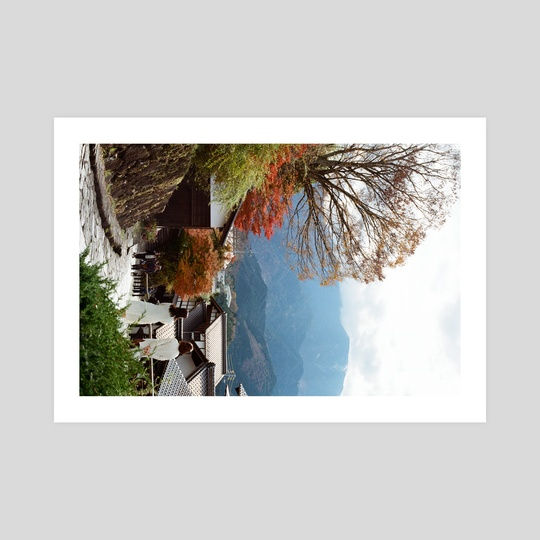 Japan Film Photography Print - Village in Autumn by Yuri Astafev