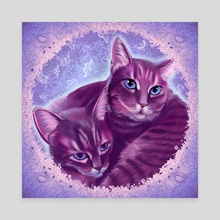 Cat Snuggle - Canvas by Carrie LeBlanc