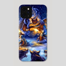 Medieval X-Mas  - Phone Case by bud coy