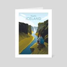 Travel to Iceland - Art Card by Anna Kuptsova