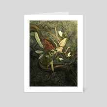 Falling Into Fairyland - Art Card by Sam Spicer