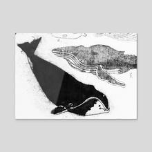 Bowhead whale - Acrylic by Kasper Binzer