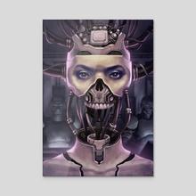 CYBERPUNK GIRL - Acrylic by Artecida Art