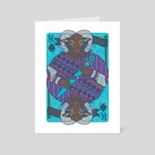 King of Spades / The Emperor - Art Card by Caitlin Keegan