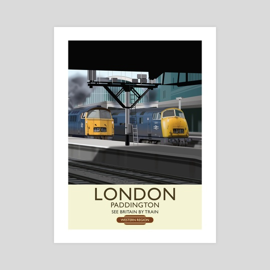 London Paddington Railway Poster by MIKE TURTON