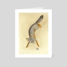 "Island Fox - Art Card by Leslie ""Wren"" Vandever"