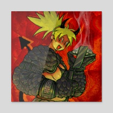 hot flamin' gyoza - Acrylic by Plastiboo