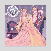 Sailor V & Princess Venus - Canvas by Silkydxll