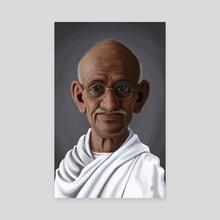 Mahatma Gandhi - Canvas by Rob Snow