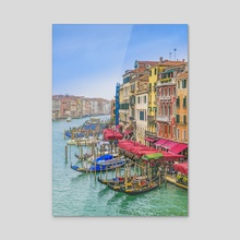 Aerial View Grand Canal of Venice, Italy - Acrylic by Daniel Ferreira Leites