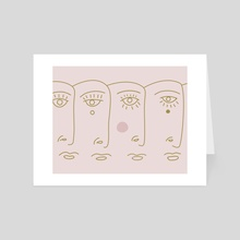 Faces - Art Card by Genna Campton
