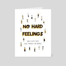 No hard feelings - Art Card by Siobhán Gallagher