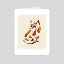 Calico cat - Art Card by Dora Litterell