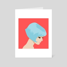 Woman in Blue - Art Card by Meredith Watson