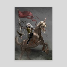 The Fifth Horsewoman of the Apocalypse - Canvas by Kari Christensen