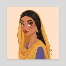 Indian beauty   - Canvas by Laura Dumitriu