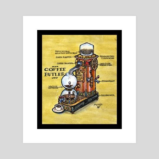 Steampunk Coffee Butler by M. C.  Matz