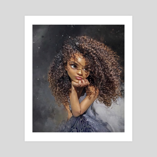 Curly Girl by Andy Art