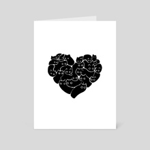 Love is cats - Art Card by Valio Art