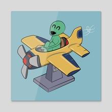 Alien Coin-Op Flying Machine - Acrylic by Guthrie Allen