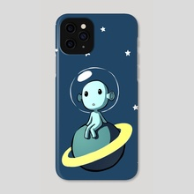 Space Alien - Phone Case by Indré Bankauskaité