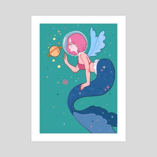 Space Mermaid by Nekomori Art