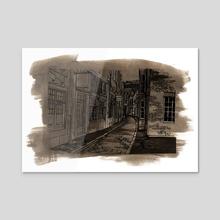 London Street - Acrylic by Annabelle Tracy