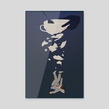 The Sunken Place - Acrylic by Zakiya Noel