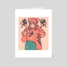 peach girl - Art Card by fresh_bobatae