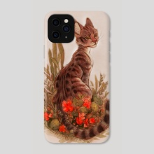 MinervaInNasturtiums - Phone Case by Samrae Duke
