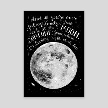 The Moon - Canvas by Hanna Stueker
