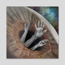 Eyeball - Acrylic by Kate Blagodatskikh