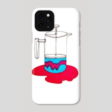 Psychedelic French Press - Phone Case by Emily  Allis
