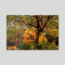 Sage Chapel at Sunset - Acrylic by Savanna Lim