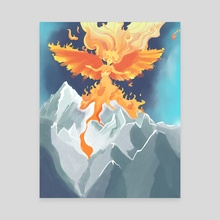 Volcano Goddess - Canvas by Quinn Silver