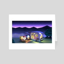 Camping Night - Art Card by clueme ain