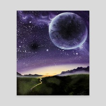 New World - Canvas by Addison Kanoelani