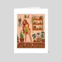 Home Jungle - Art Card by Laura Dumitriu